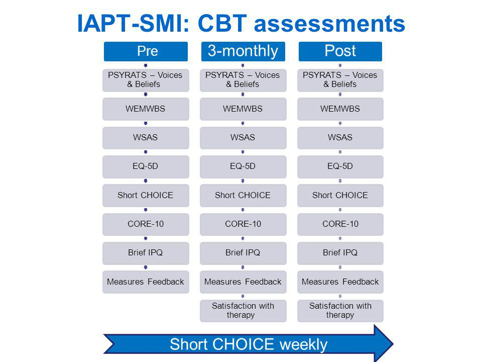 IAPT-SMI: CBT assessments