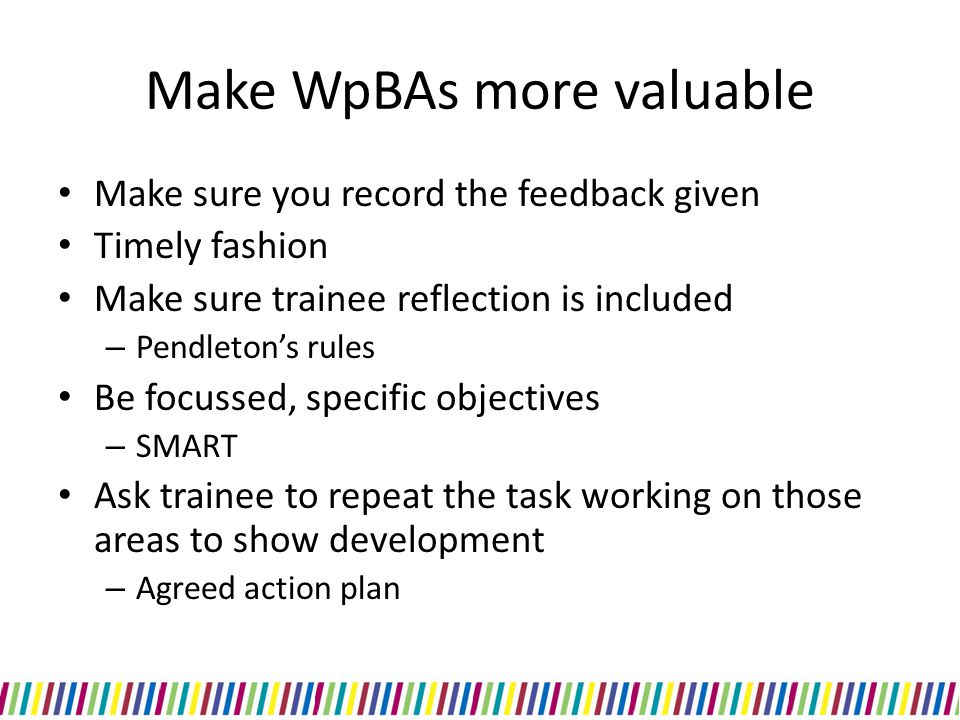 Make WpBAs more valuable