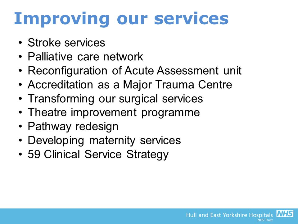 Improving our services