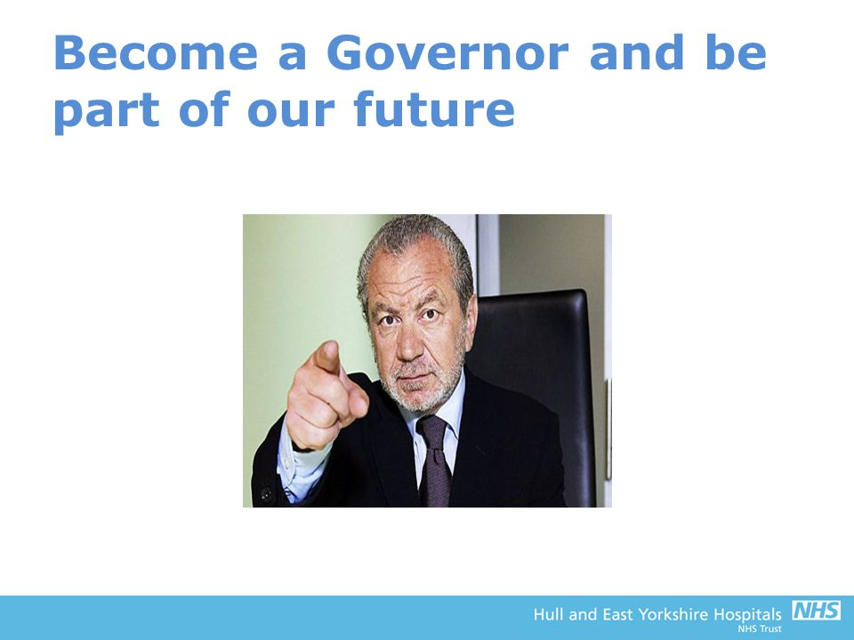 Become a Governor and be part of our future
