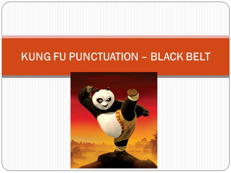 KUNG FU PUNCTUATION – BLACK BELT