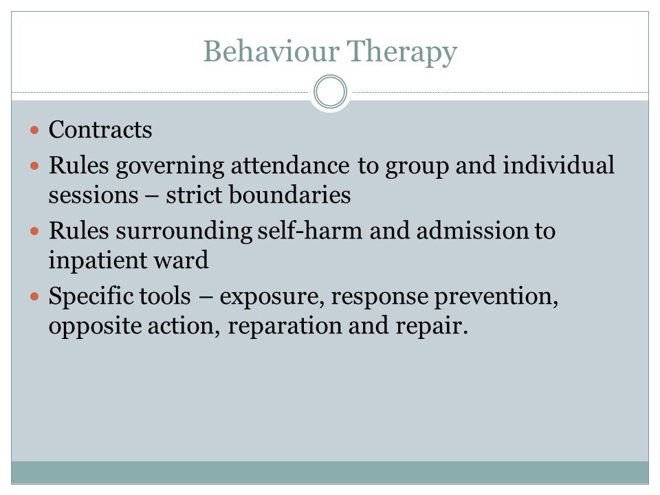 Behaviour Therapy Contracts