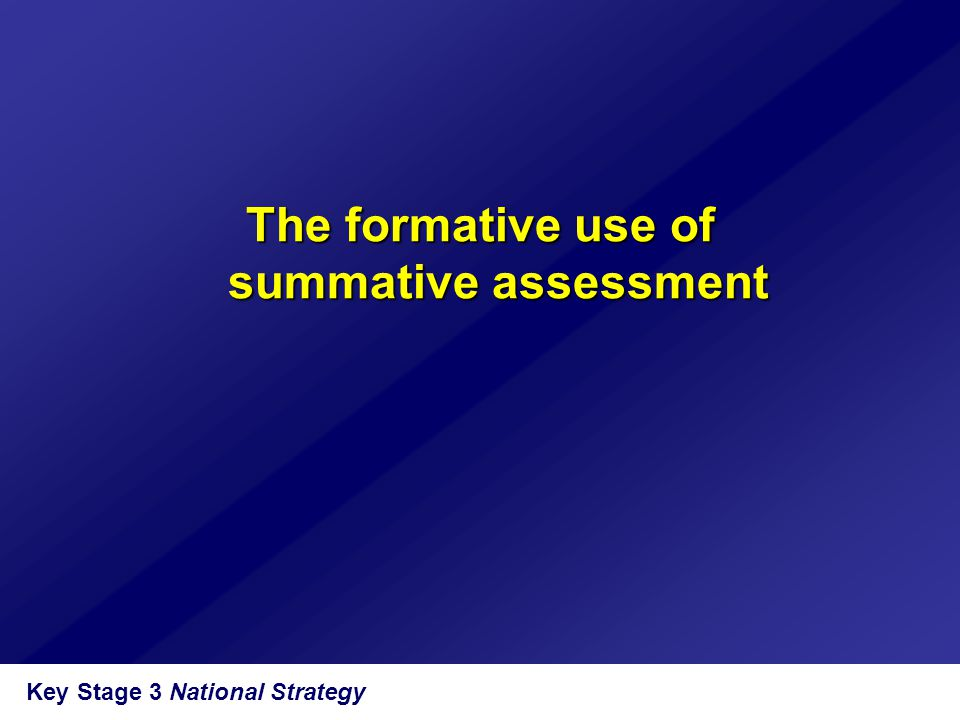 The formative use of summative assessment
