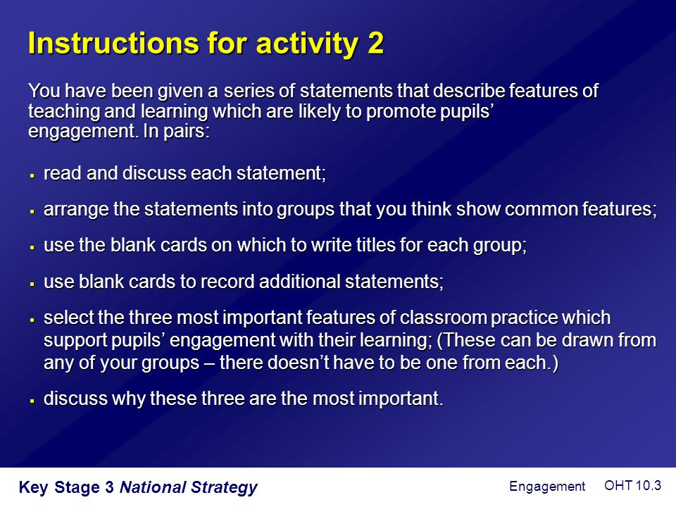 Instructions for activity 2