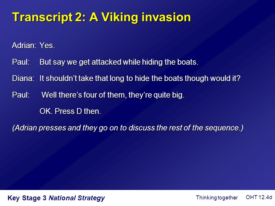 Transcript 2: A Viking invasion