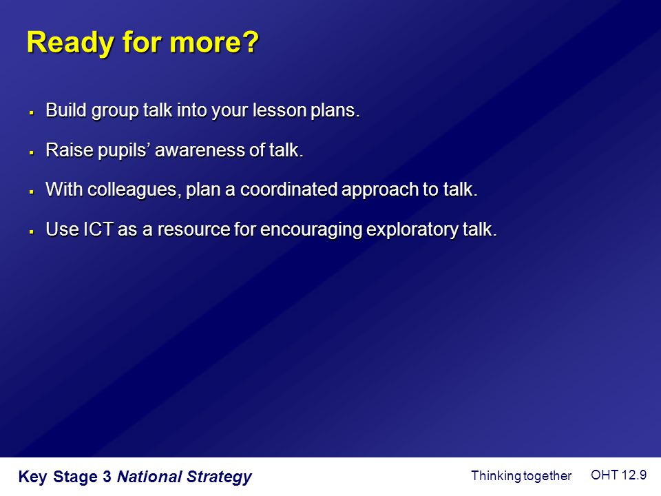 Ready for more Build group talk into your lesson plans.