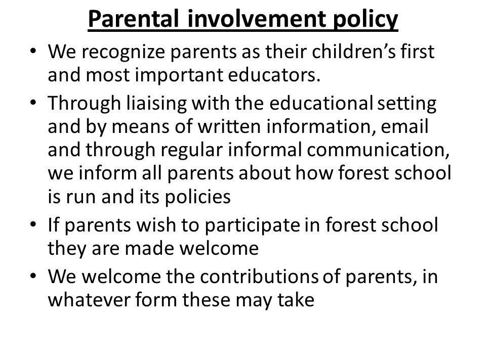 Parental involvement policy