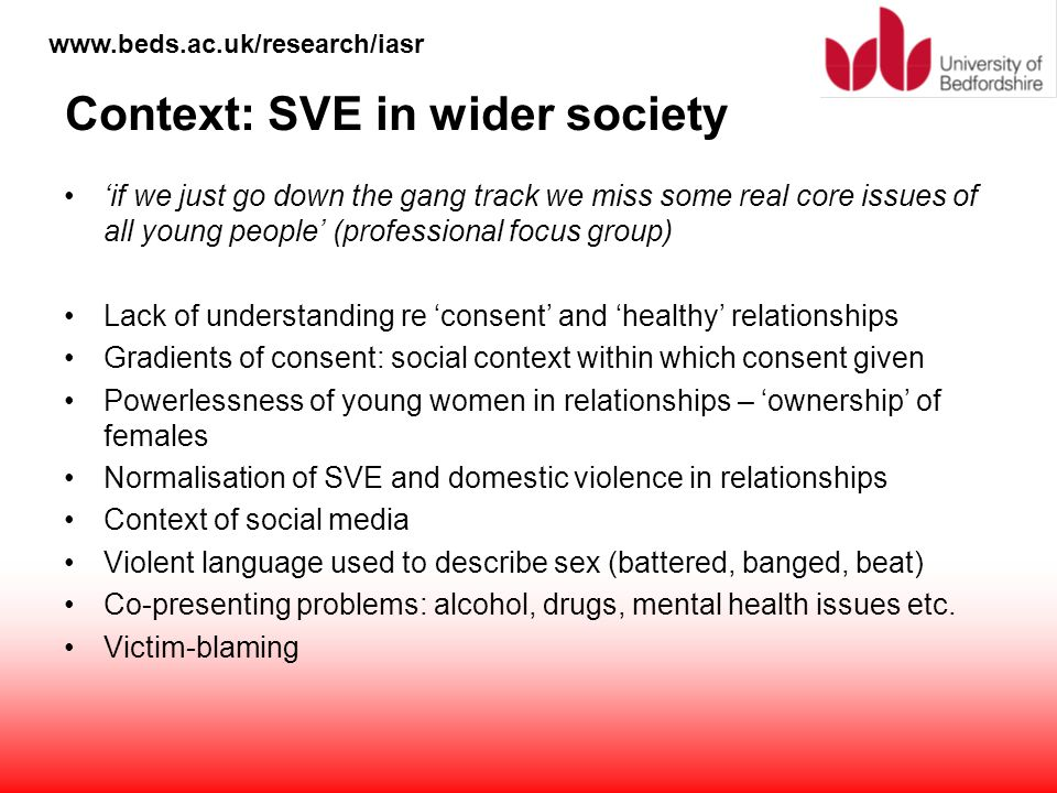 Context: SVE in wider society