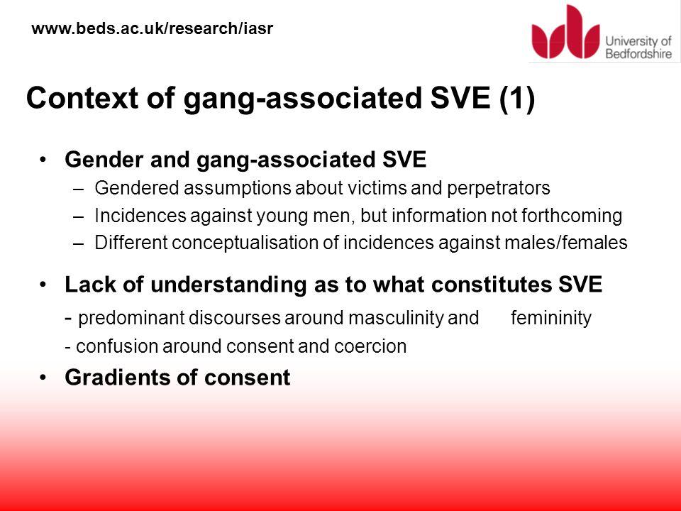 Context of gang-associated SVE (1)