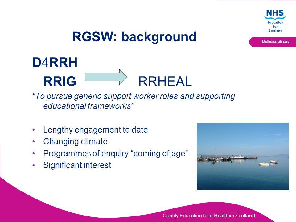 RGSW: background D4RRH RRIG RRHEAL