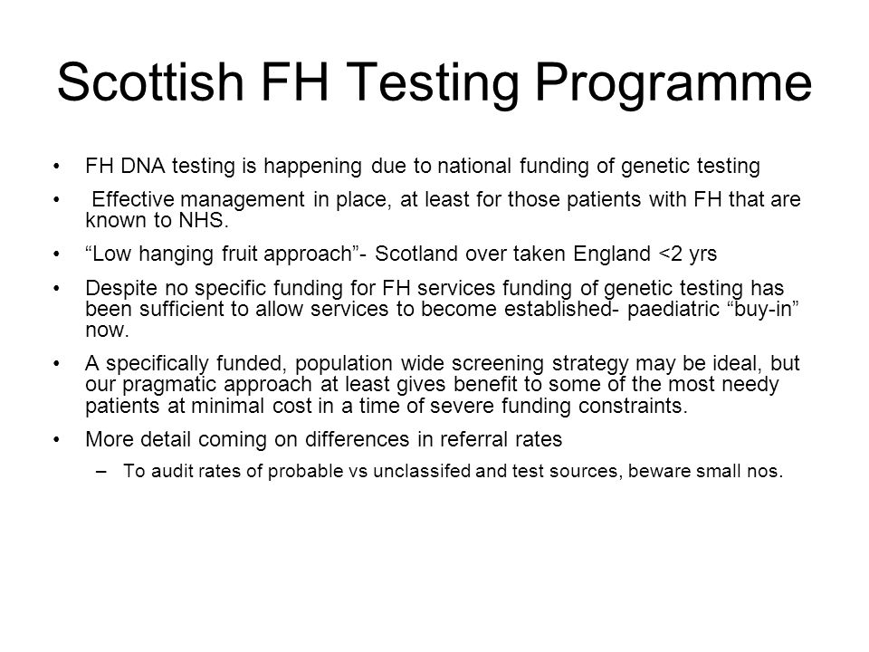 Scottish FH Testing Programme