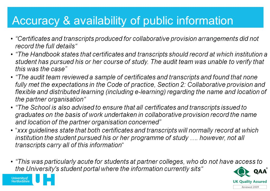 Accuracy & availability of public information