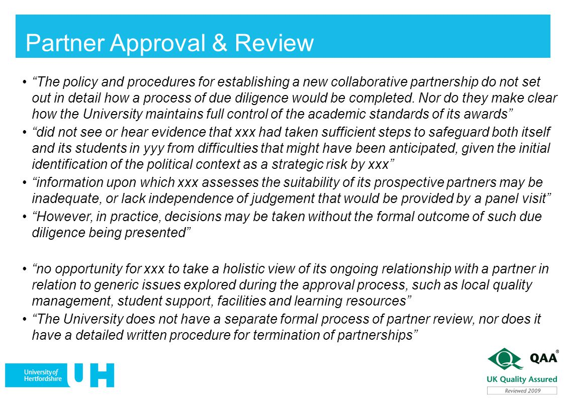 Partner Approval & Review
