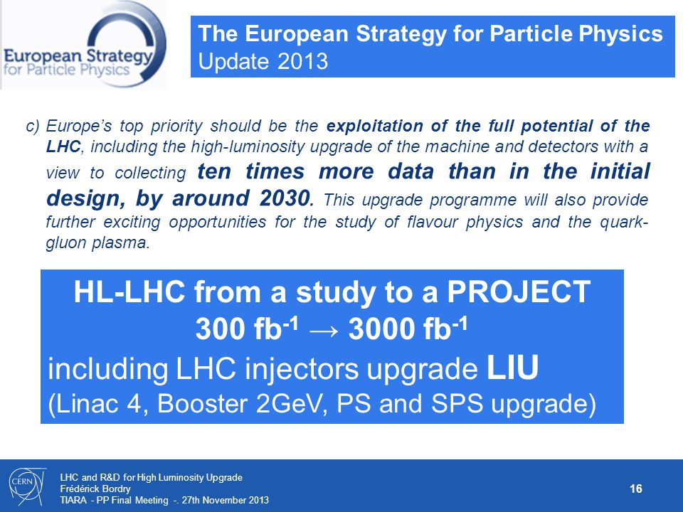 HL-LHC from a study to a PROJECT