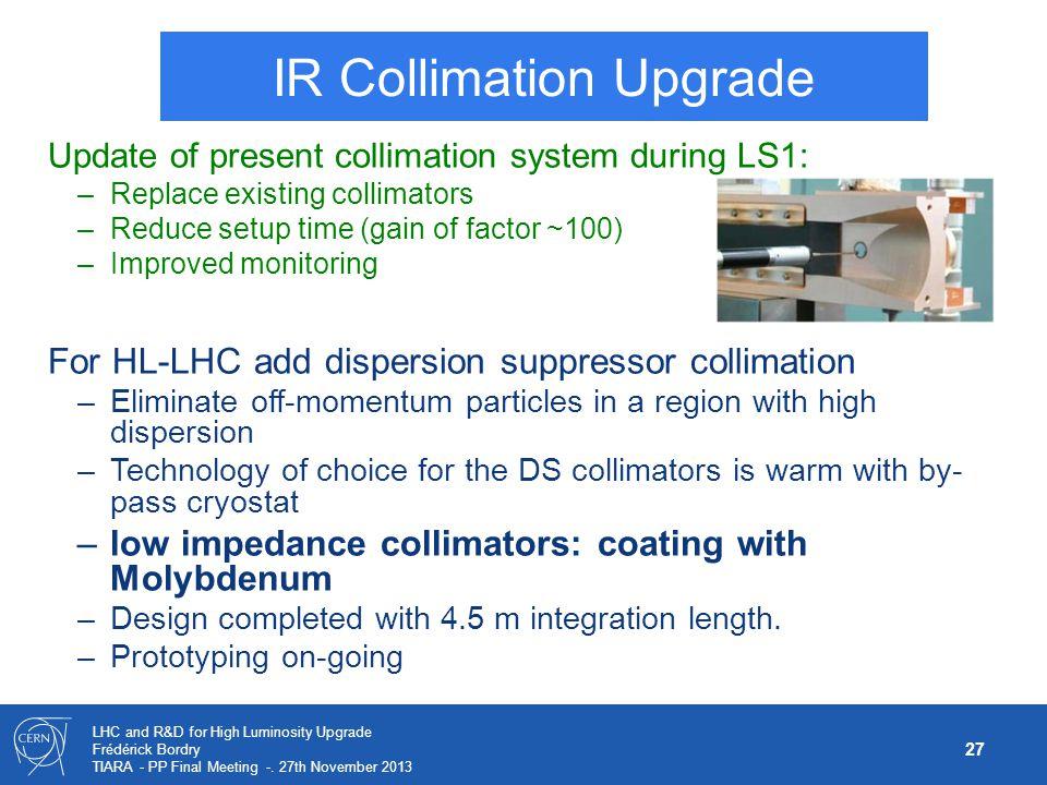 IR Collimation Upgrade