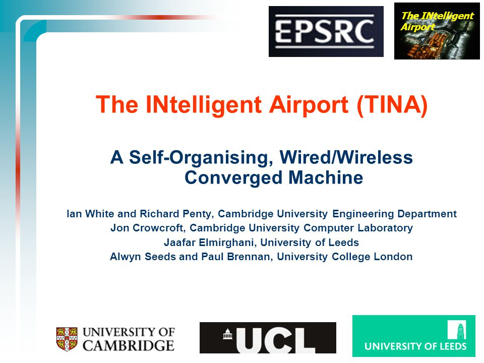 The INtelligent Airport (TINA)
