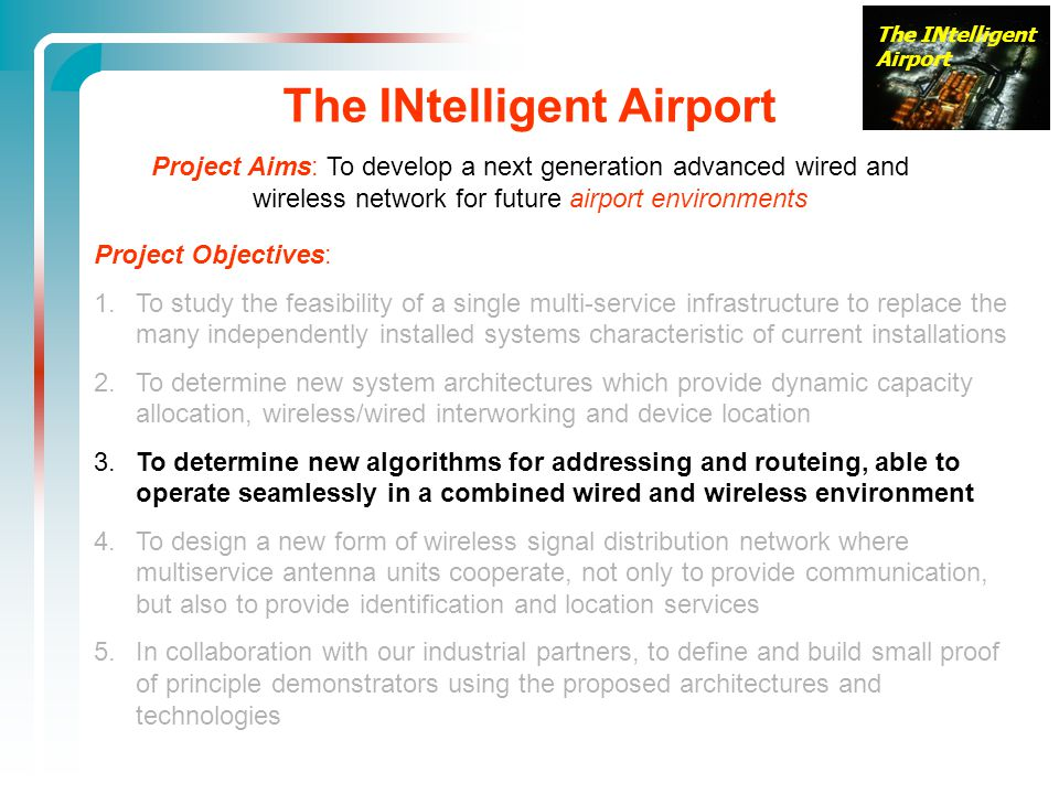 The INtelligent Airport