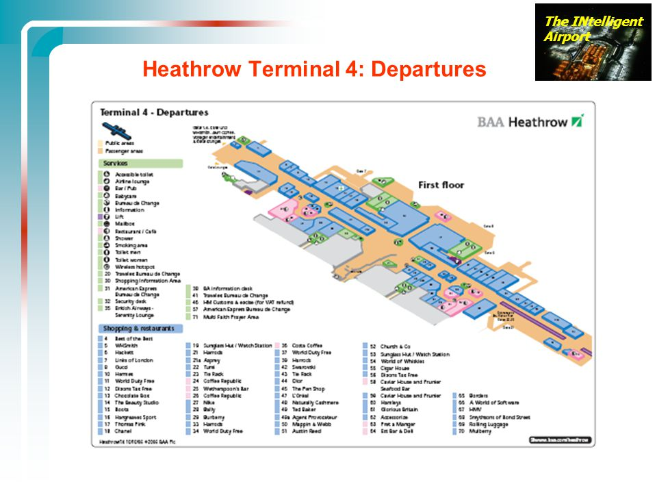 Heathrow Terminal 4: Departures
