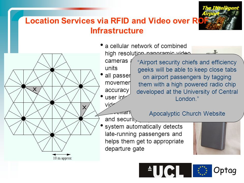 Location Services via RFID and Video over ROF Infrastructure