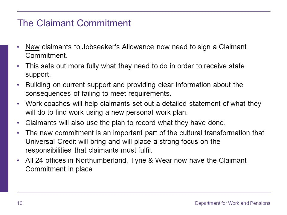 The Claimant Commitment