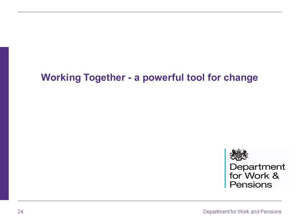 Working Together - a powerful tool for change