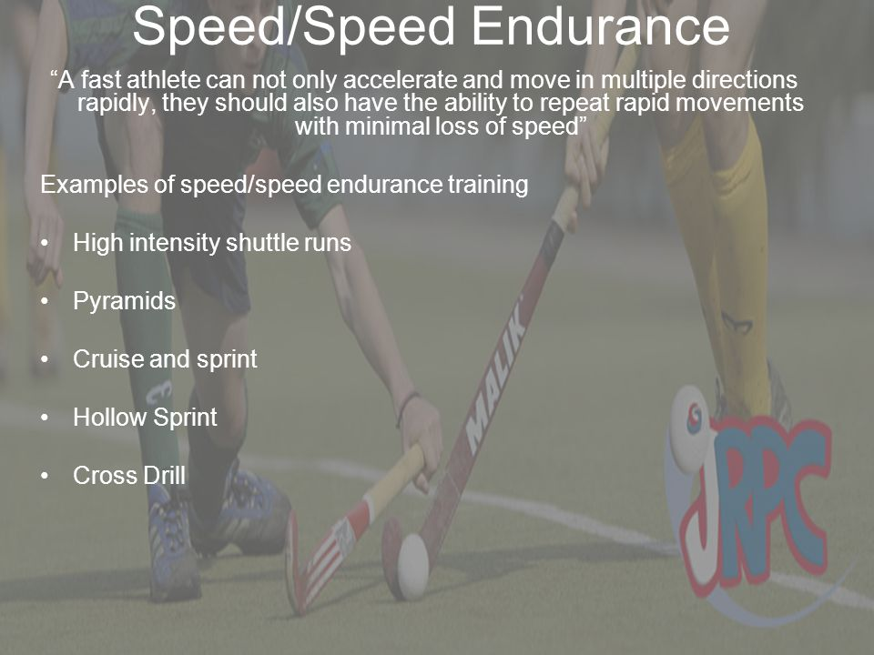 Speed/Speed Endurance