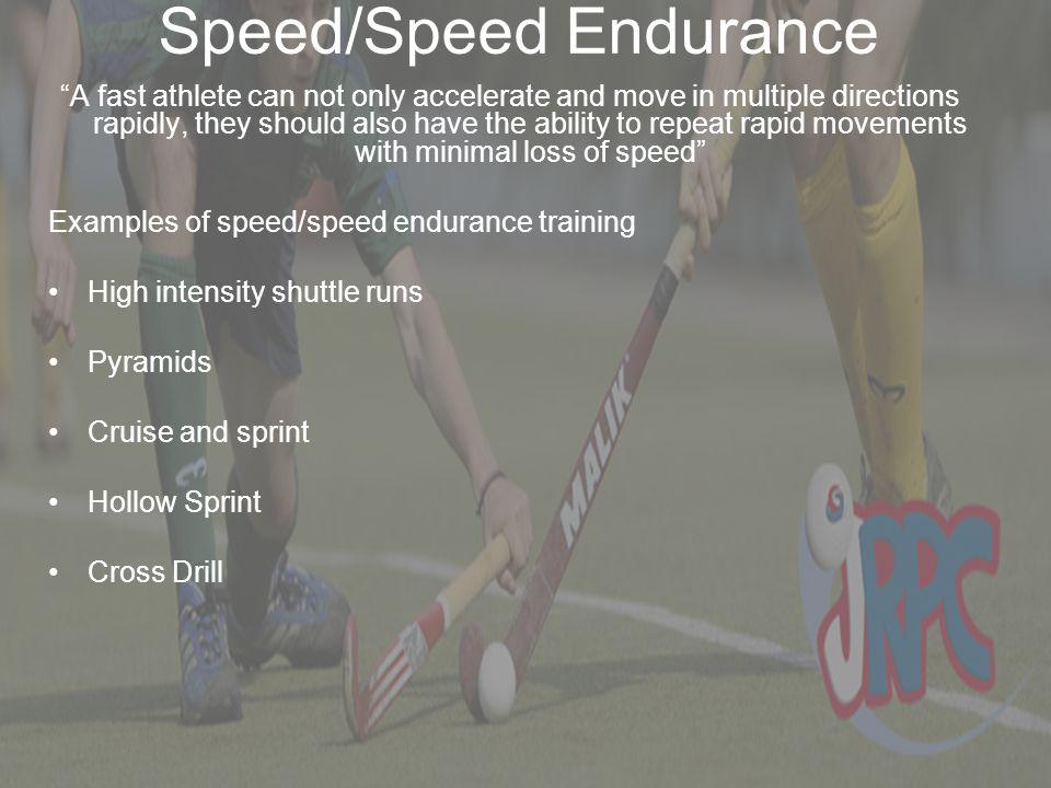 Speed/Speed Endurance