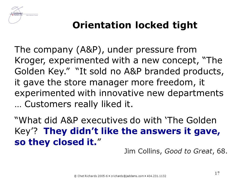Orientation locked tight