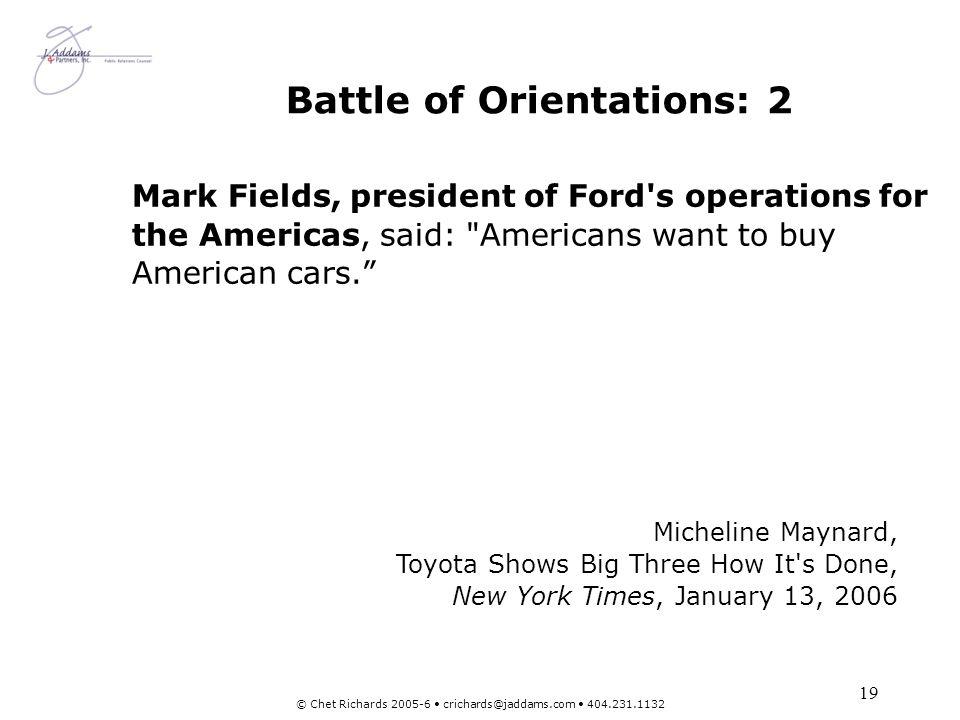 Battle of Orientations: 2