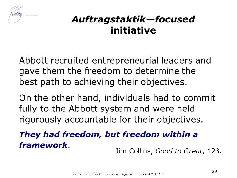 Auftragstaktik—focused initiative