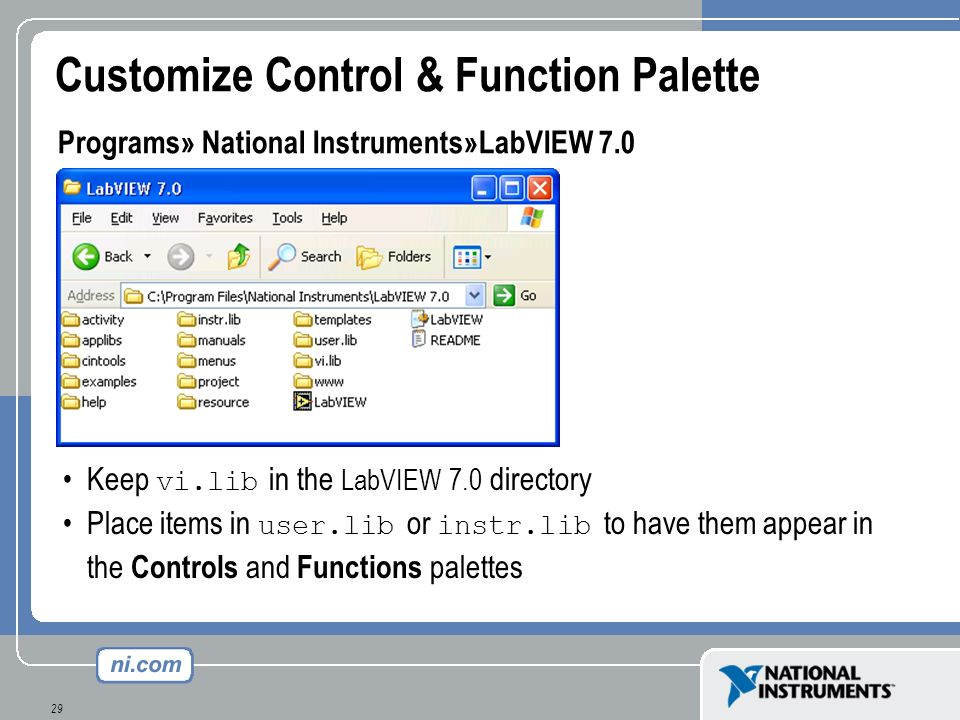 Customize Control & Function Palette