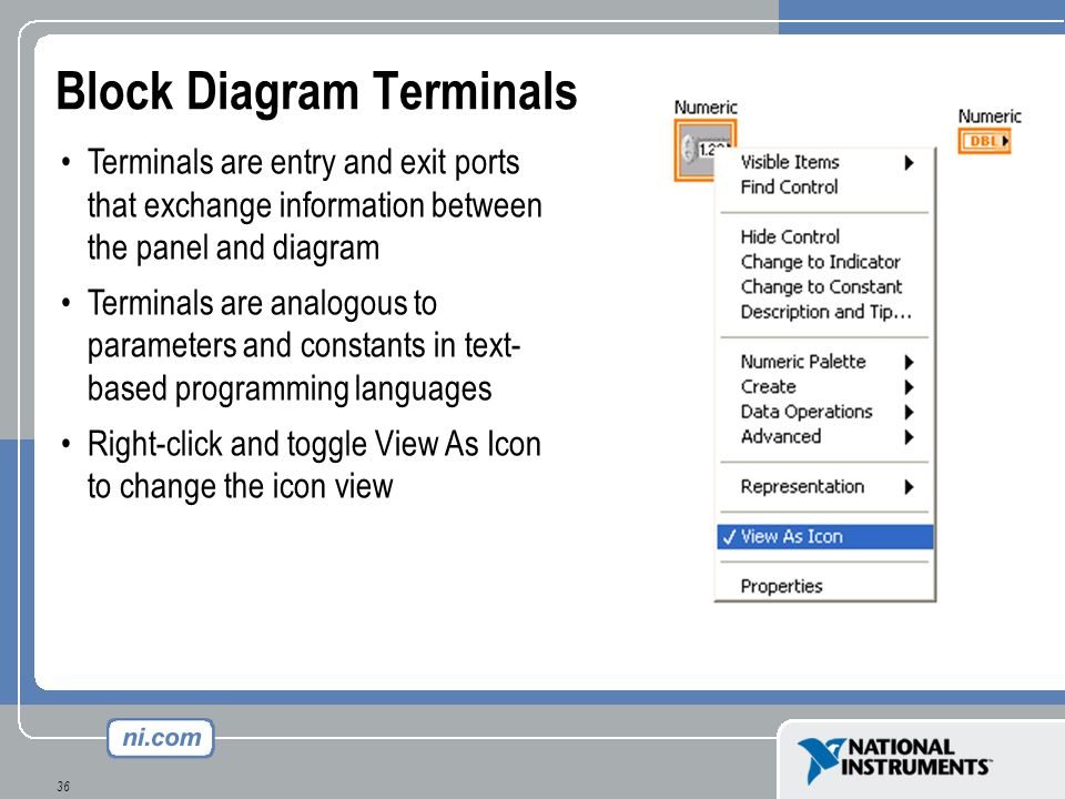 Block Diagram Terminals