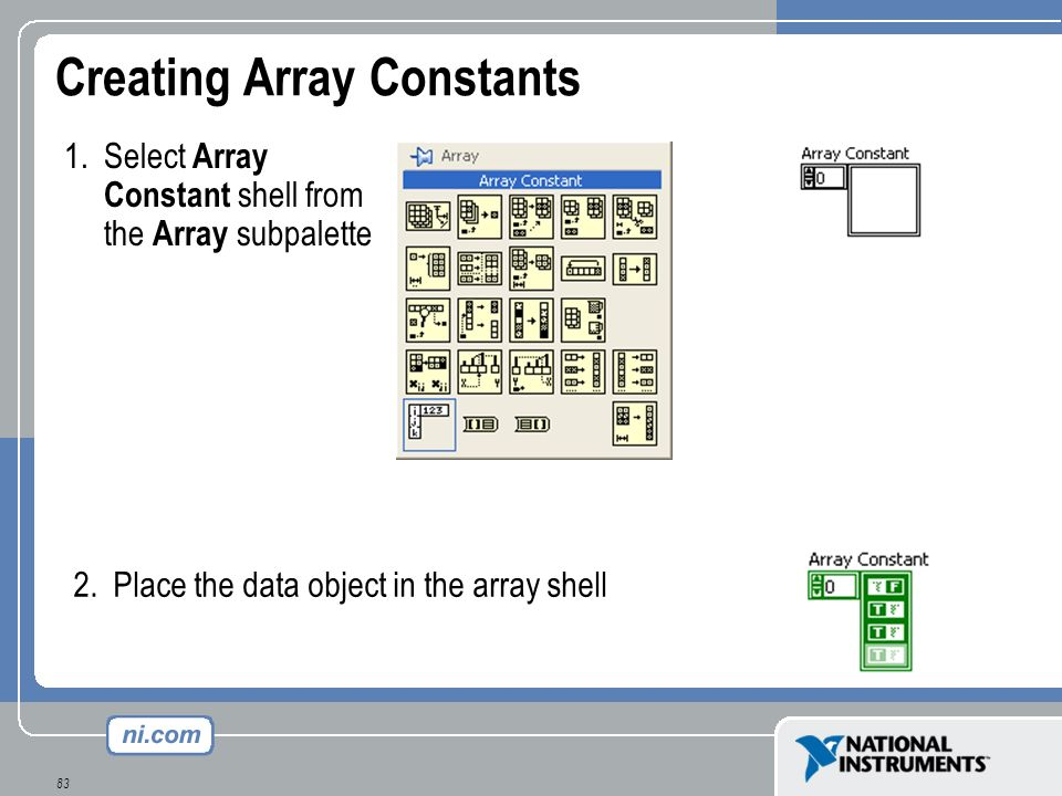 Creating Array Constants
