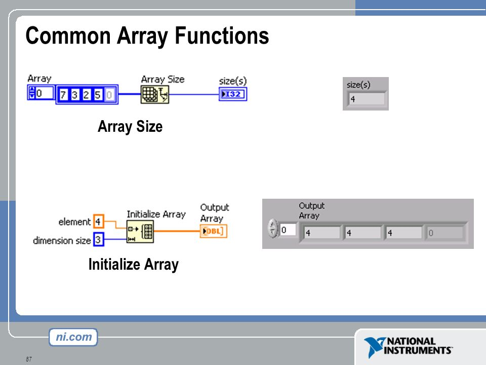 Common Array Functions