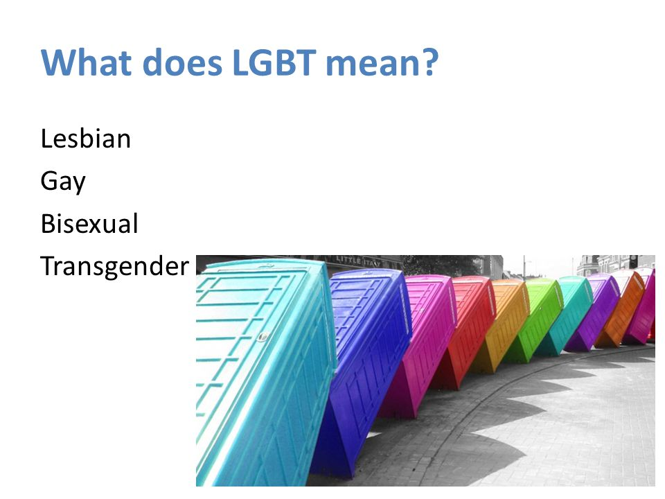 What does LGBT mean Lesbian Gay Bisexual Transgender