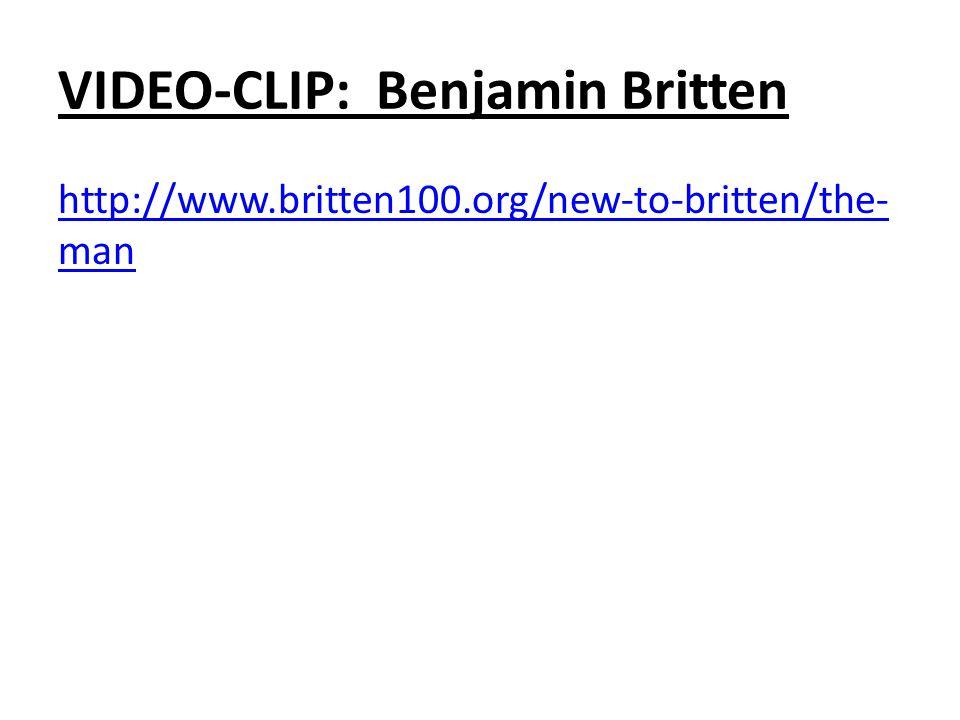 VIDEO-CLIP: Benjamin Britten