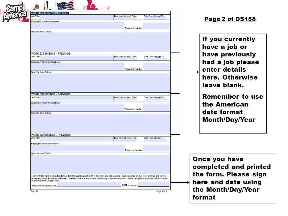 Remember to use the American date format Month/Day/Year