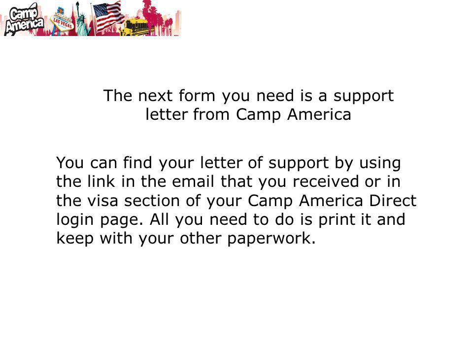 These Instructions Are For Camp America Participants Who