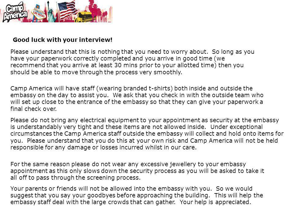 Good luck with your interview!