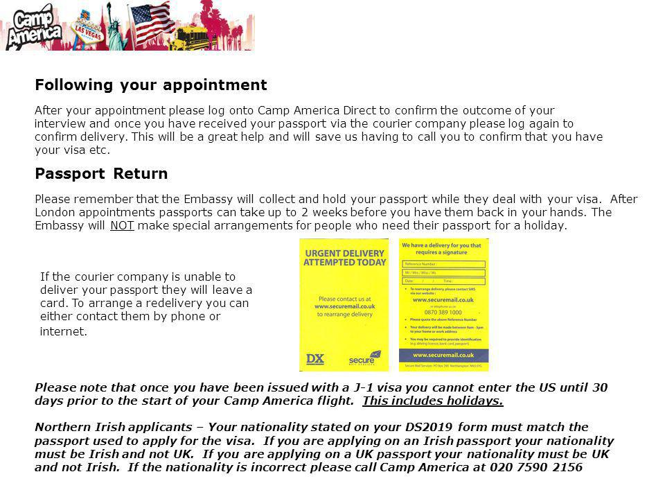 Following your appointment