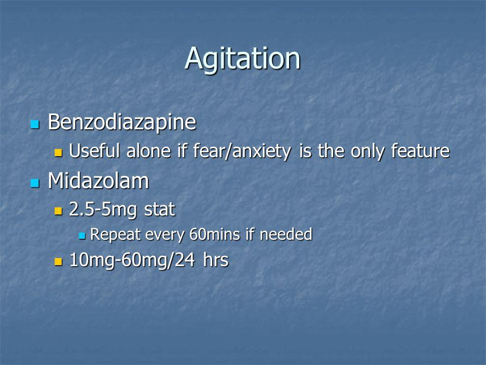 Agitation Benzodiazapine Midazolam