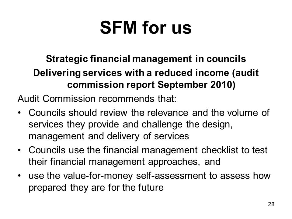 Strategic financial management in councils