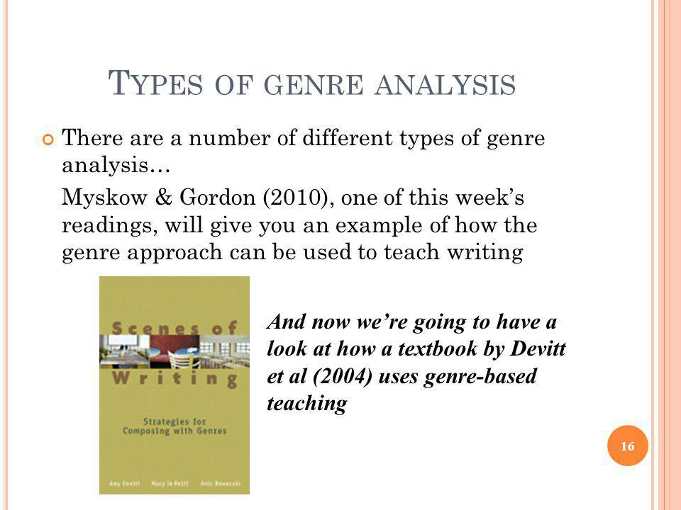 genre analysis 2 essay Genre analysis essay video: creative writing jobs gold coast next time i write an essay about a personal hero i'm gonna write about daniel mccurley.