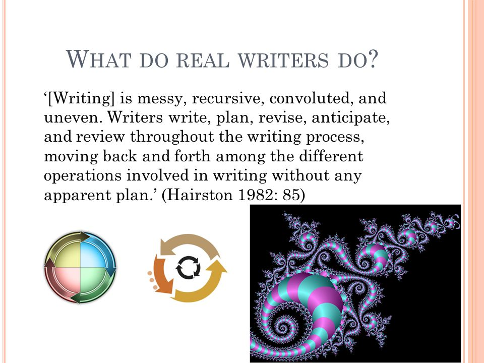 What do real writers do