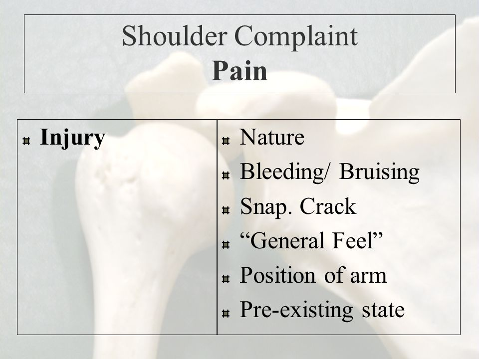 Shoulder Complaint Pain