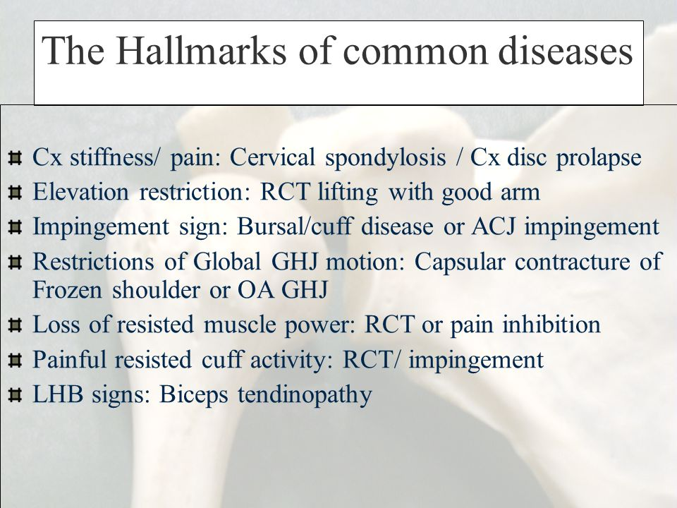 The Hallmarks of common diseases
