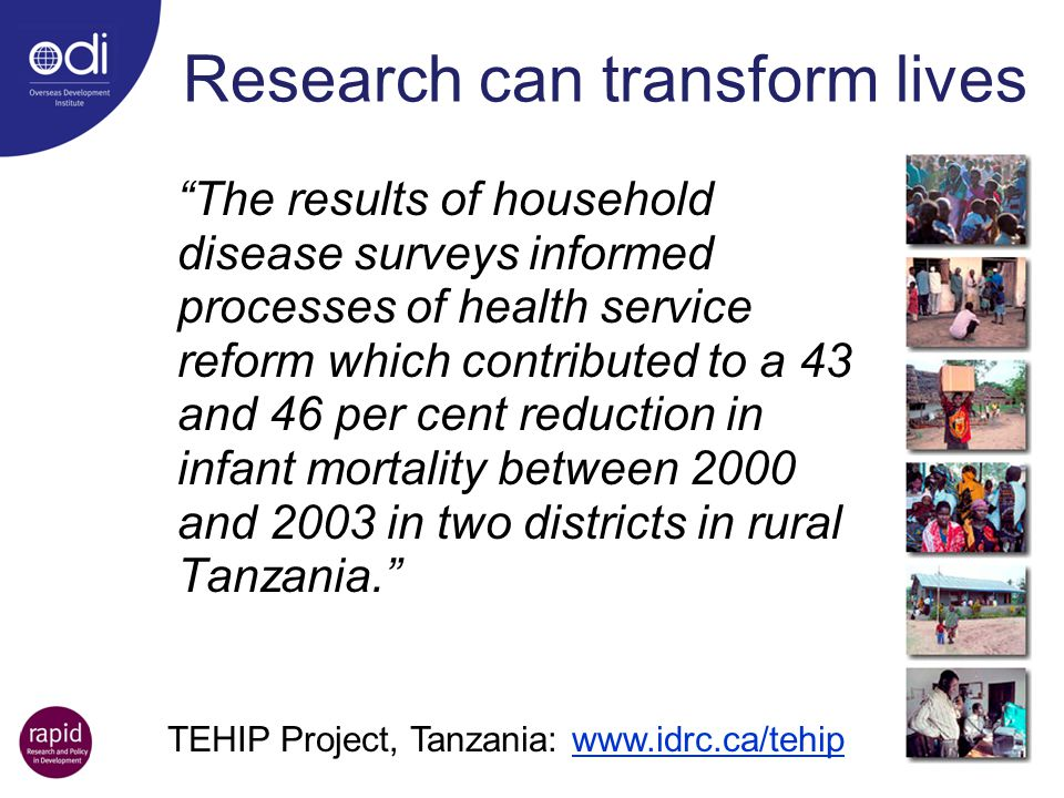 Research can transform lives