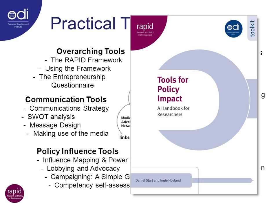 Practical Tools Overarching Tools Context Assessment Tools