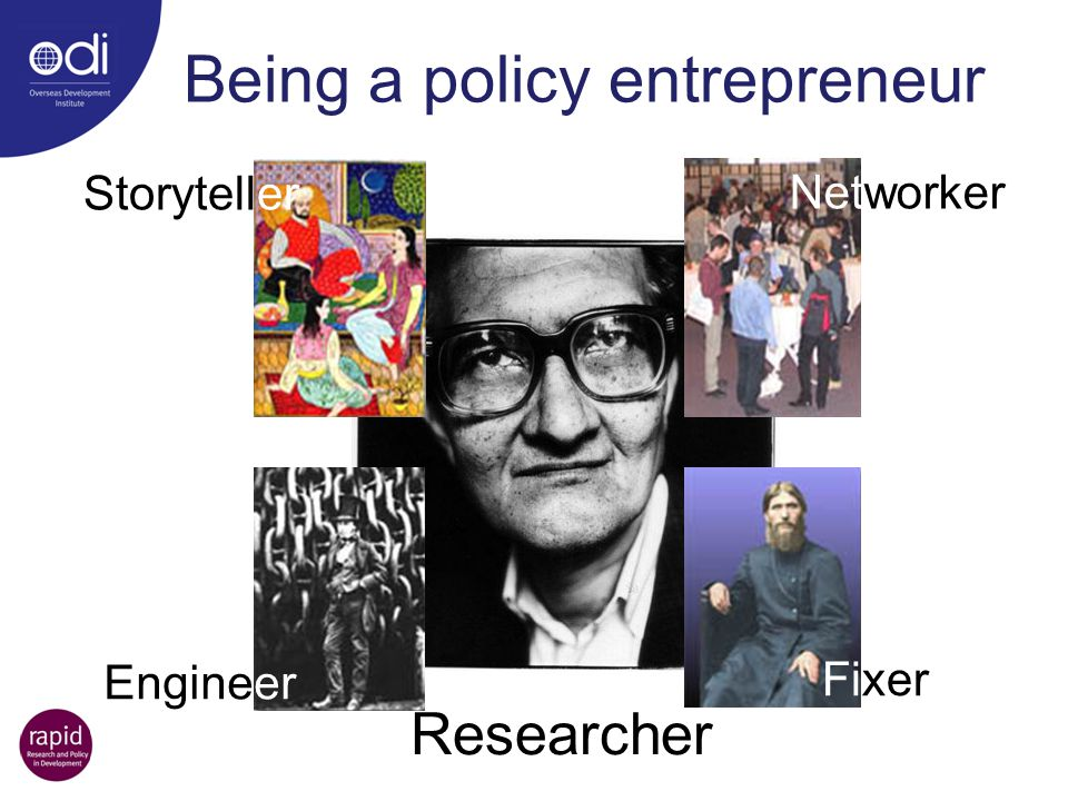 Being a policy entrepreneur