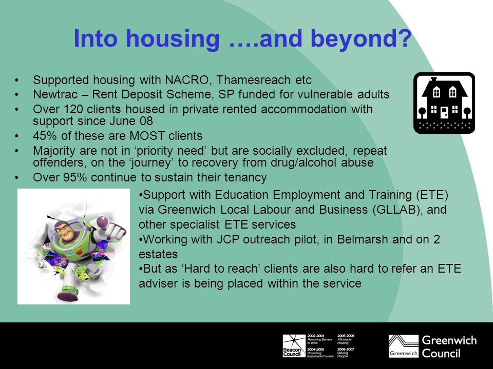 Into housing ….and beyond